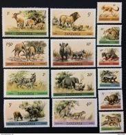 Tanzania 1980** Mi.161A-74A. Animals [20;58] - Stamps