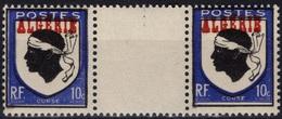 ALGERIE ALGERIEN ALGERIA 243 ** MNH Armoirie Wappen Coat Of Arms Corse X 2 Avec Interpanneau 1 - Algeria (1924-1962)