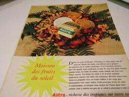 ANCIENNE  PUBLICITE MOISSON DES FRUITS DU SOLEIL  MARGARINE ASTRA  1959 - Affiches