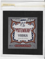 Vodka Potemkine - Etiquettes