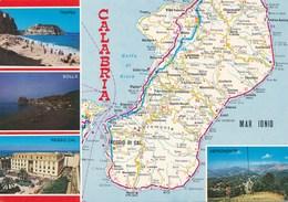 Carte Géographique - PAYS : Italie - Calabria - Calabre - Cartes Géographiques