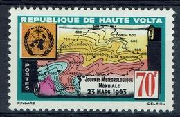 Upper Volta (Burkina Faso), World Meteorological Day 1963, MH VF - Upper Volta (1958-1984)