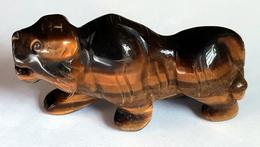 Tiger Eye Carved Tiger - Bijoux & Horlogerie