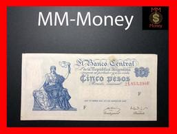 ARGENTINA 5 Pesos 27.3.1947 P. 258 Serie F  VF - Argentine