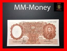 ARGENTINA 100 Pesos L.12.962 & 13.571 P. 272 Serie E  XF-AU Sig. Variety - Argentine