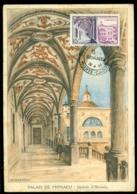Monaco 1952 Carte Postale Palais De Monaco Galerie D'Hercule - Prince's Palace
