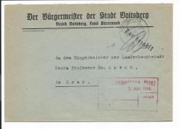 Österreich  Gebühr Bezahlt - Brief -  1946 Von Voitsberg N. Graz Bedarfsverwendet - Autres