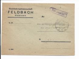 Österreich  Gebühr Bezahlt - Brief -  1947 Von Feldbach N. Graz  Bedarfsverwendet - Autres