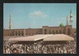 Saudi Arabia Picture Postcard Holy Mosque Madinah Bab Al Salam Friday Prayer View Card - Saudi Arabia