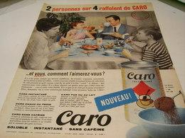 ANCIENNE AFFICHE PUBLICITE RAFFOLENT DU CAFE CARO 1959 - Affiches