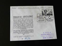ENVELOPPE AERO CLUB PHILATELIQUE CLUB DE FRANCE - GENERAL LECLERC - N° 37 / 60 - Postmark Collection (Covers)