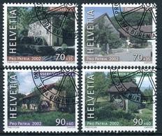 276-279 / 1790-1793 Pro Patria 2002 - Sauber ET Gestemelt - Oblitérés