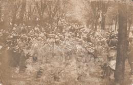Rare Photo Carte Musiciens Sur Le Front - 1914-18