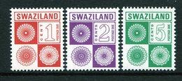 Swaziland 1978-85 Postage Dues Set MNH (SG D19-D21) - No SG D19a - Swaziland (1968-...)