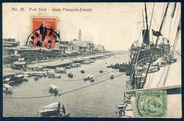 EGIPTO / EGYPT - Port Said - Quai François-Joseph (bateaux, Ships, Barcos, Port, Harbour) - Puerto Saíd