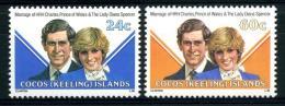 Cocos 73 Et 74** Mariage Lady Dy - Cocos (Keeling) Islands