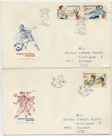CZECHOSLOVAKIA 1982  Football World Cup On Two FDCs.  Michel 2648-50 - FDC