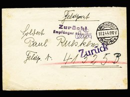 A5587) DR Feldpostbrief Rhöndorf 27.2.44 An FP 41325B Stempel Empf. Vermisst - Briefe U. Dokumente
