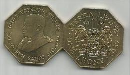 Sierra Leone 1 Leone 1987. High Grade - Sierra Leona