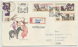 CZECHOSLOVAKIA 1981 Prague Zoo On Registered FDC.  Michel 2635-37 - FDC