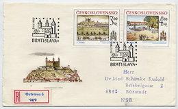 CZECHOSLOVAKIA 1980 Historic Bratislava On Registered FDC.  Michel 2586-87 - FDC
