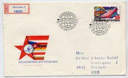 CZECHOSLOVAKIA 1980 Intercosmos Programme On Registered  FDC.  Michel 2563 - FDC