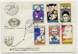 CZECHOSLOVAKIA 1969 Cultural Personalities On  FDC.  Michel 1878-83 - FDC