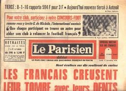 LE PARISIEN N° 8450 Du 1/11/1971 Avec Oneshot POPEYE . - Politique