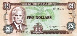 JAMAICA 5 DOLLARS 1989 P-70c UNC [JM226c] - Jamaica