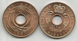 East Africa 5 Cents 1957. High Grade - British Colony
