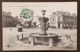 COMMENTRY.(03) Place De L'hotel De Ville, La Fontaine. Attelage. - Commentry