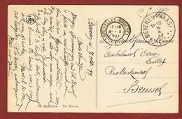 Fantasiekaart Van Beveren Waas Naar Ambulance L'Océan Te Brussel 8/10/1920 - Other Covers