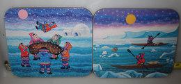 JASON ESKIMO FAMILY BY ELEANOR & TONY PAINE 6 COASTERS SOTTOBICCHIERI NEW - Sous-bocks