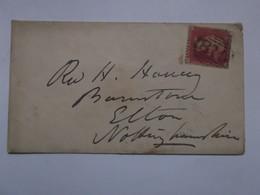GB - 1861 Victoria 1d Red Cover Tring To Nottingham - 1840-1901 (Viktoria)