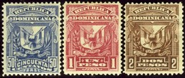 Dominican Republic. Sc #93-95. Unused. F-VF. - Dominicaine (République)