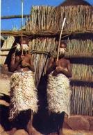 Periple En Afrique Australe - Basutoland - Enfants Basutos Pares Pour L'initiation - Formato Grande Viaggiata – E 7 - Cartoline