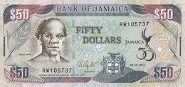 JAMAICA 50 DOLLARS 2012 P-89a UNC COMMEMORATIVE [JM244a] - Jamaica
