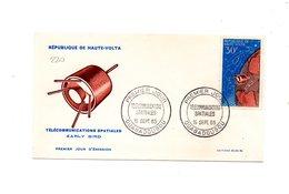 LAB220 - ALTOVOLTA 15 /9 / 1965 Telecomunicazioni Spaziali Fdc - Alto Volta (1958-1984)