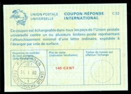 Nederland 1980 International Reply Coupon Réponse 140 Cent - Period 1980-... (Beatrix)