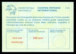 Nederland 1982 (?) International Reply Coupon Réponse 250 Cent No Cancel - Period 1980-... (Beatrix)