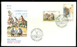 Turkije 1992 FDC Mountain Tourism - 1921-... Republiek