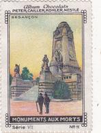 Chromo Publicitaire 4 X 6 Monument Aux Morts Memorial Denkmal Für Die Toten (25) BESANCON - Nestlé