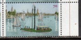 """GERMANY, 2016, MNH, SHIPS, STEAMSHIPS, 200th ANNIVERSARY OF THE STEAMSHIP """"DIE WESER"""",  1v - Ships"""