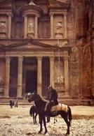 Jordan - Petra - Khaznat Far'on - Formato Grande Viaggiata – E 7 - Cartoline