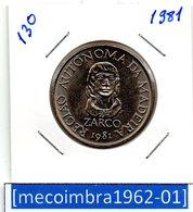 #130 - Portugal - Commémoratives 25 Escudos 1981 Regiao Autonoma Da Madeira - Portugal