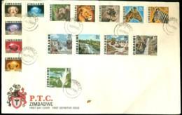 Zimbabwe 1980 FDC First Definiotive Issue No Address - Zimbabwe (1980-...)