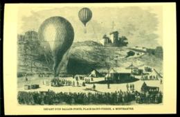 Belgie 1970 Postkaart Postballon Vertrek Uit Monmartre Stempel Baarle Hertog Met OPB 1537 Niet Verstuurd - Baarle-Hertog