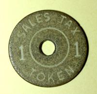 """Jeton De Nécessité Etats-Unis Années 20 """"1 (cent) Alabama  Dept. State Of Revenue / Sales Tax Token / """" Emergency Token - Monétaires/De Nécessité"""