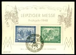 Deutschland Alliierte Besetzung 1948 Gedenkblatt Leipziger Messe Mi 967-968 - Zone AAS