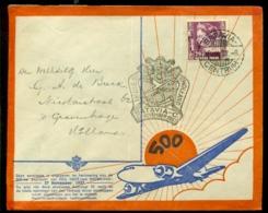 Nederlands Indie 27 November1937 Luchtpostbrief 500e Vlucht Indie-Holland - Netherlands Indies